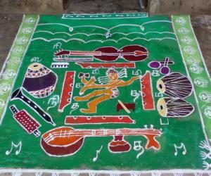 Margazhi Dew Drops Rangoli Contest - 2010