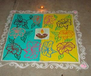Rangoli: Rangoli done on Diwali