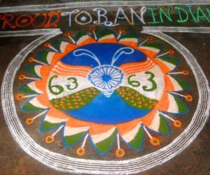 Rangoli: independence day kolam