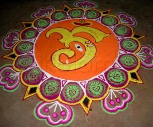 Rangoli: my vinayagar chaturthi kolam