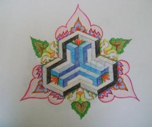Variation of Geometric kolam 2