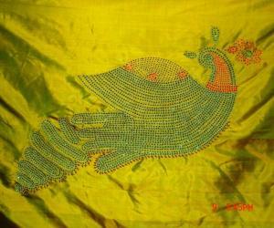 Rangoli: FABRIC SAREE DESIGN!!
