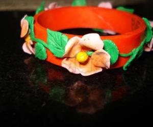 Rangoli: Cold porcelain 2 in 1 napkin holder or curtain ring