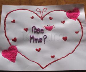 Rangoli: Valentine rangoli