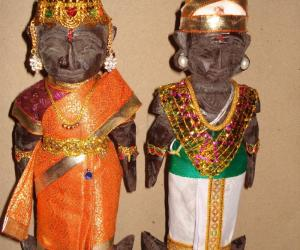 Rangoli: Mara paachi Doll Decoration