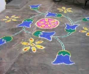 Rangoli: bluebells