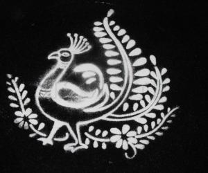 Stencil Peacock
