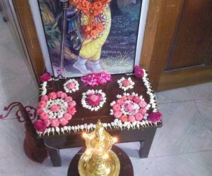 Rangoli: design with flowers
