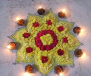 Rangoli: flower designs