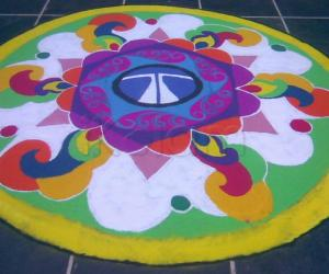 kolam in our college
