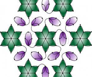 Aubergine floral rangoli