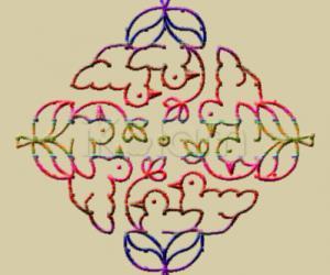 Rangoli: Birds nest : embroidered look