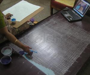 Rangoli: Basic Grid of Women's day rangoli (IWD)