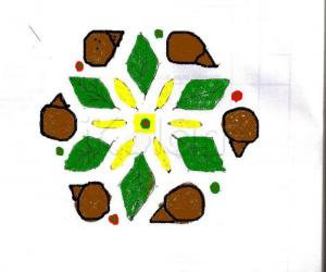Rangoli: Dotted kolam, created for Dassara festival,
