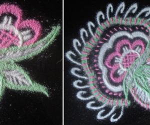 Before and After Rangoli