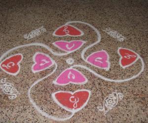 Rangoli: Hearts