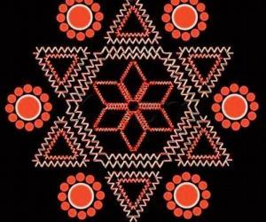 Hexagonal paDikOlam - 8