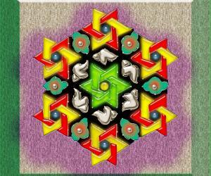 Rangoli: Interlaced triangles