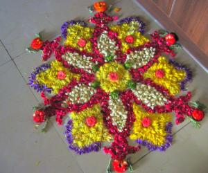 Rangoli - flowers