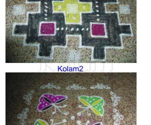 Rangoli: two in one