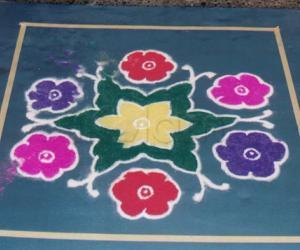 Rangoli: Delicate Roses