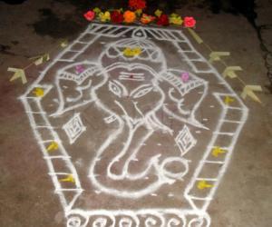 Rangoli: Vinayaka