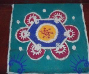 Rangoli: Navarathri rangoli 2