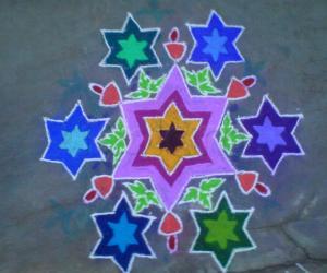 Rangoli: Christmas bells