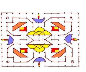 laddu kolam --- 13 - 13 dots kolam