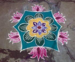 Rangoli: Lotus design
