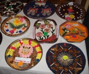 Rangoli: Arthi plate collage