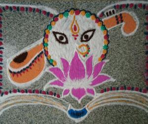 Rangoli: Happy Saraswathi Puja!!!