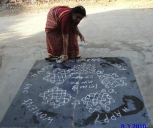 Rangoli: WOMEN' DAY 8TH MARCH 10