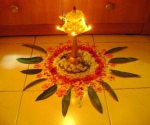 Small Pookolam for Vishu