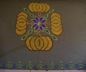 Rangoli: Pumpkin for the garden