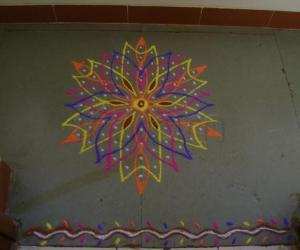 Rangoli: Colorful dotted Rangoli