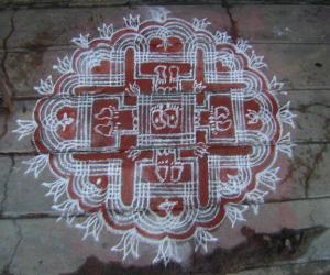 Rangoli: Janmashtami kolam
