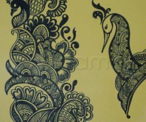 Rangoli: freehand drawing