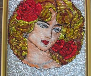Lady Glass Painting