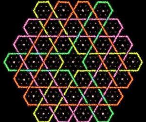 Hexagonal chikku kOlam - 3