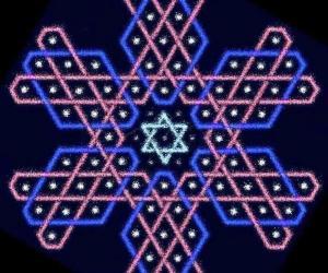Hexagonal chikku kOlam - 10