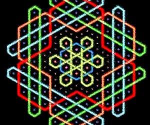 Hexagonal chikku kOlam - 11