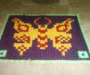 Butterfly kumil kolam