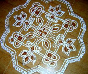 Kolam on the terrece