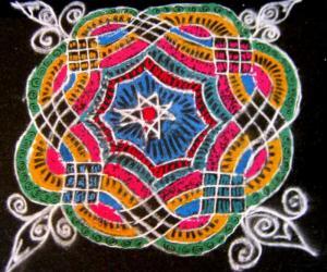 Designer kolam by Anita
