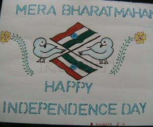 Rangoli: independence day project