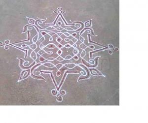 Rangoli: Ele(Lines) rangoli