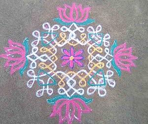 Rangoli: Ele Rangoli with additional design