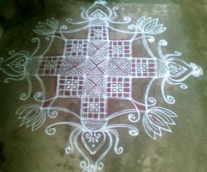 Rangoli: Special kolam for Navarathri