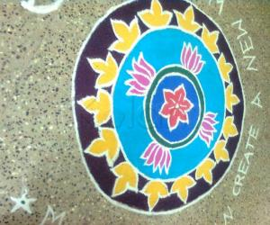 my friends asha and mari made this fantastic kolam